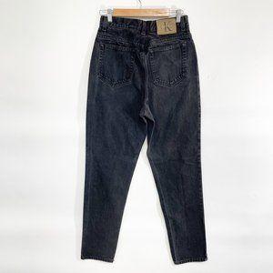 Vintage Calvin Klein Black High Waisted Jeans